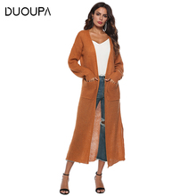 DUOUPA 2019 Colors Autumn Winter Sweater Women Fashion Casual Solid Jacket Vintage Loose Long Knitted Sweaters wool