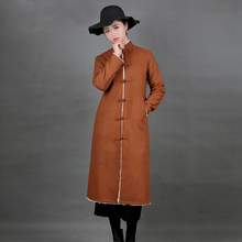 Bhutan Holidays Retro Tibet Style Outfit Women Clothes Original Ethnic Tibetan Long Robe Improving Chinese Ancient Gown