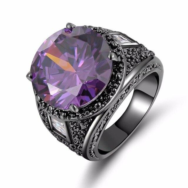 Wholesale Male Fashion Jewelry Men Finger Ring Amethyst