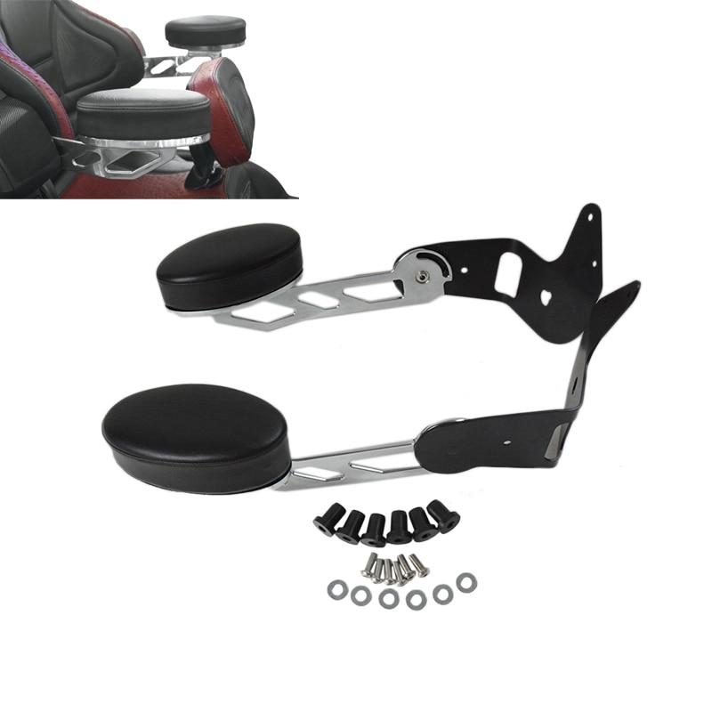 New Chrome Motorcycle Rear Passenger Armrests For Honda Goldwing  GL1800 2001-2017 16 15 14 13 12 11 10 09 08 07 06 05 04 03 02 for ktm 390 duke motorcycle leather pillon passenger rear seat black color