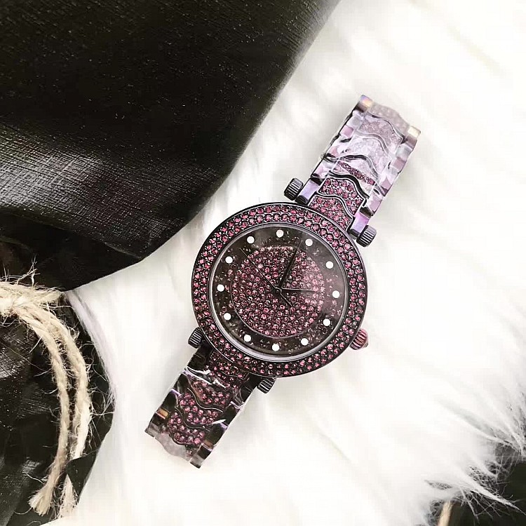 hot women dress Austrian rhinestone watches fashion casual quartz watch steel wristwatch Luxury clockv women watch montre femme