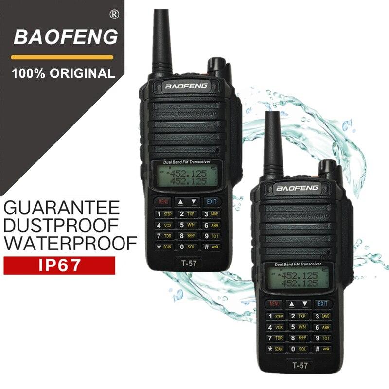 2 pcs BaoFeng T-57 Marine IntercomI Étanche Talkie-walkie à Deux Voies de Jambon Radio Émetteur-Récepteur Portable UV-9R Chasse Woki Toki