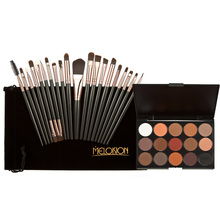 15 Colors Makeup Shimmer Matte Pro Powder Blush Foundation Eyeshadow Blending Brush Powder+20pcs Eye Makeup Brushes