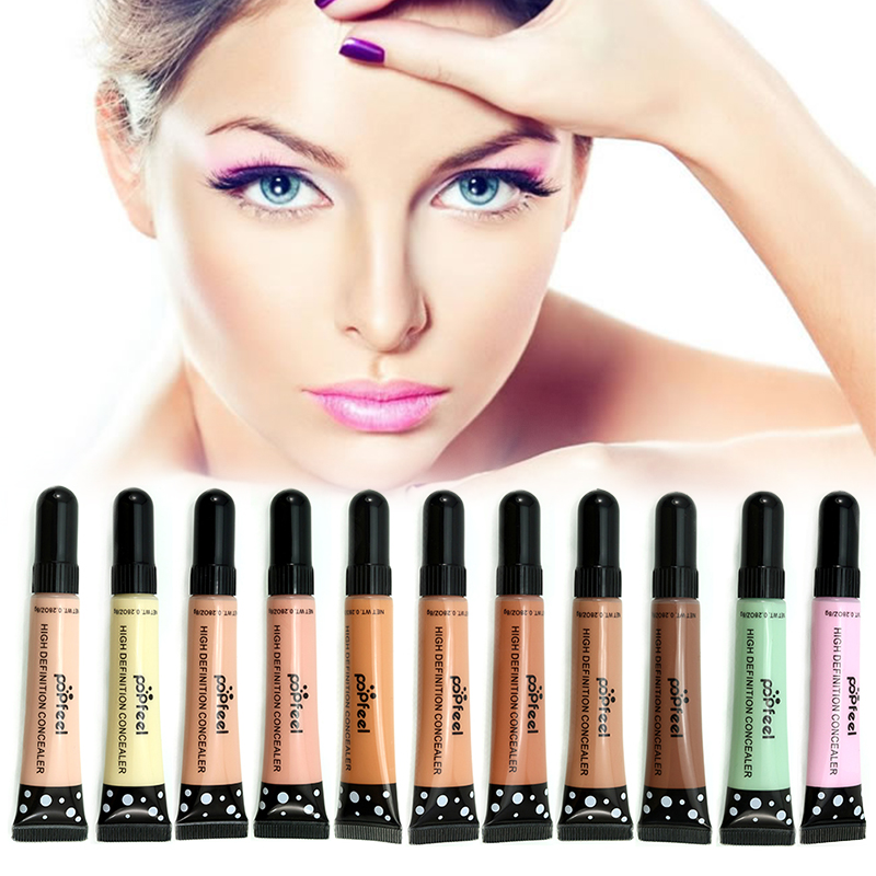 POPFEEL 1 PC Face Makeup Base Concealer Eye Contour Corrector Cream Makeup Foundation  11 Choice And Comestic Puff TSLM2