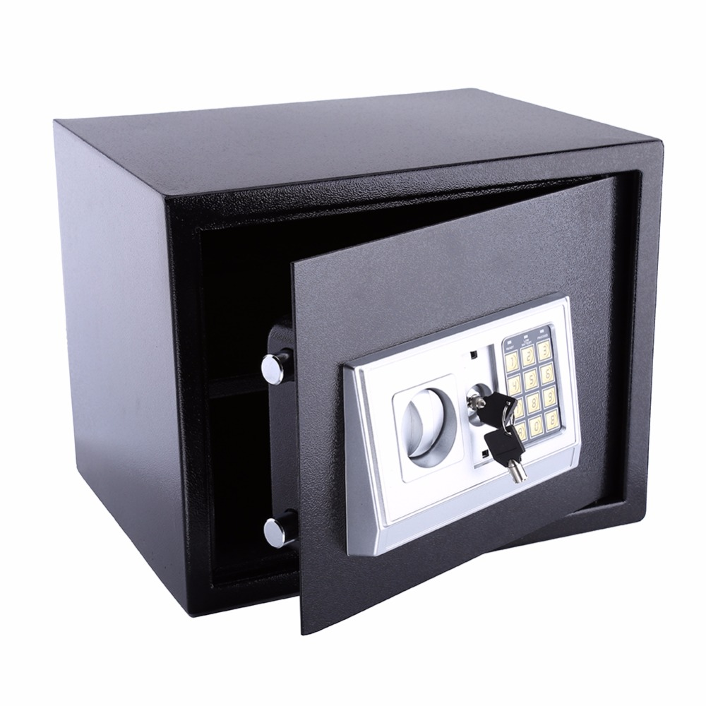Security lock box money coins jewelry key storage cabinet for Home money box