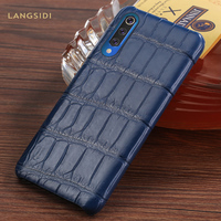 Natural Crocodile Leather Case For Xiaomi Mi 9 9T 9T Pro 9SE 8 SE Lite Cases For Redmi K20 K20 pro note 7 4x 5Plus cover Luxury