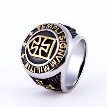 2017 fashion punk jewelery stainless steel knuckles crusader cross ring vintage mens rings,high quality silver men ring  call of duty advanced warfare army