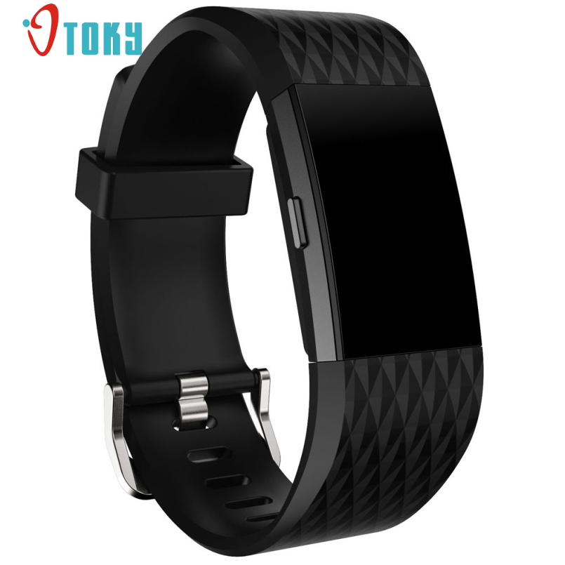 Excellent Quality Sports Silicone Bracelet  Large Size silicone Watch Band Sport Watch Strap Bracelet For Fitbit Charge 2 Jan 20 20mm sports silicone gel bracelet watch strap band for fitbit charge 2 watchbands sporting accessories correa reloj 13 colors