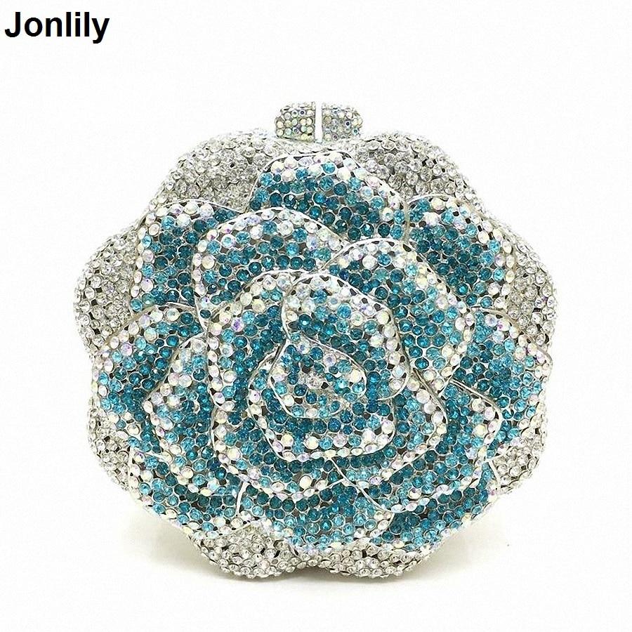 Femmes Sac Mariage Parti Cristal Main Pink Li Sacs À Coloré blue Diamants Luxe Soirée De Mode Forme 1558 Bourse Fleur Embrayages En D'embrayage SpPFWS0d