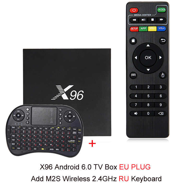 NEUE X96 Android 6.0 Smart TV Box 4 karat x 2 karat Volle HD Amlogic S905X 1g/8g 2g/16g 2,4 ghz WiFi HDMI 2,0 TF Karte Slot Smart Media-Player