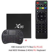 NEW X96 Android 6.0 Smart TV Box 4K x 2K Full HD Amlogic S905X 1G/8G 2G/16G 2.4GHz WiFi HDMI 2.0 TF Card Slot Smart Media Player