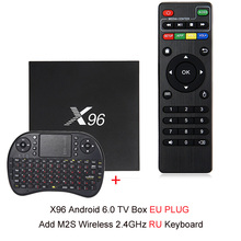 NOWY X96 Android 7.1 Smart TV Box 4 K x 2 K Amlogic Full HD S905X 1G/8G 2G/16G 2.4 GHz WiFi HDMI 2.0 TF Slot Kart Inteligentnych Media Player