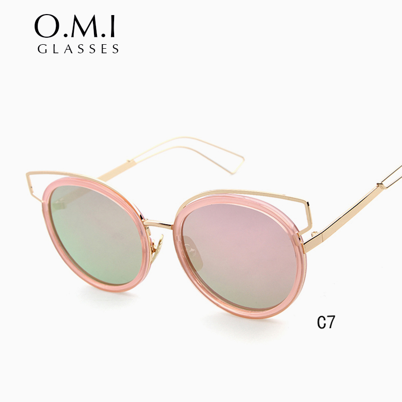 04e8b5f9c2 WHO CUTIE Versae Cateye Sunglasses 2017 Vintage Women UV400 Cat Eye Pink  Lens Glasses Tortoise shell Eyewear Goggle Brand OM84-in Sunglasses from  Apparel ...