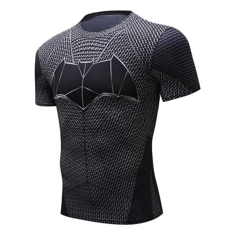 חדש 2019 Mens כושר T חולצה ספיידרמן סופרמן קפטן אמריקה חורף חייל מארוול T חולצה נוקמי תלבושות Superhero Mens
