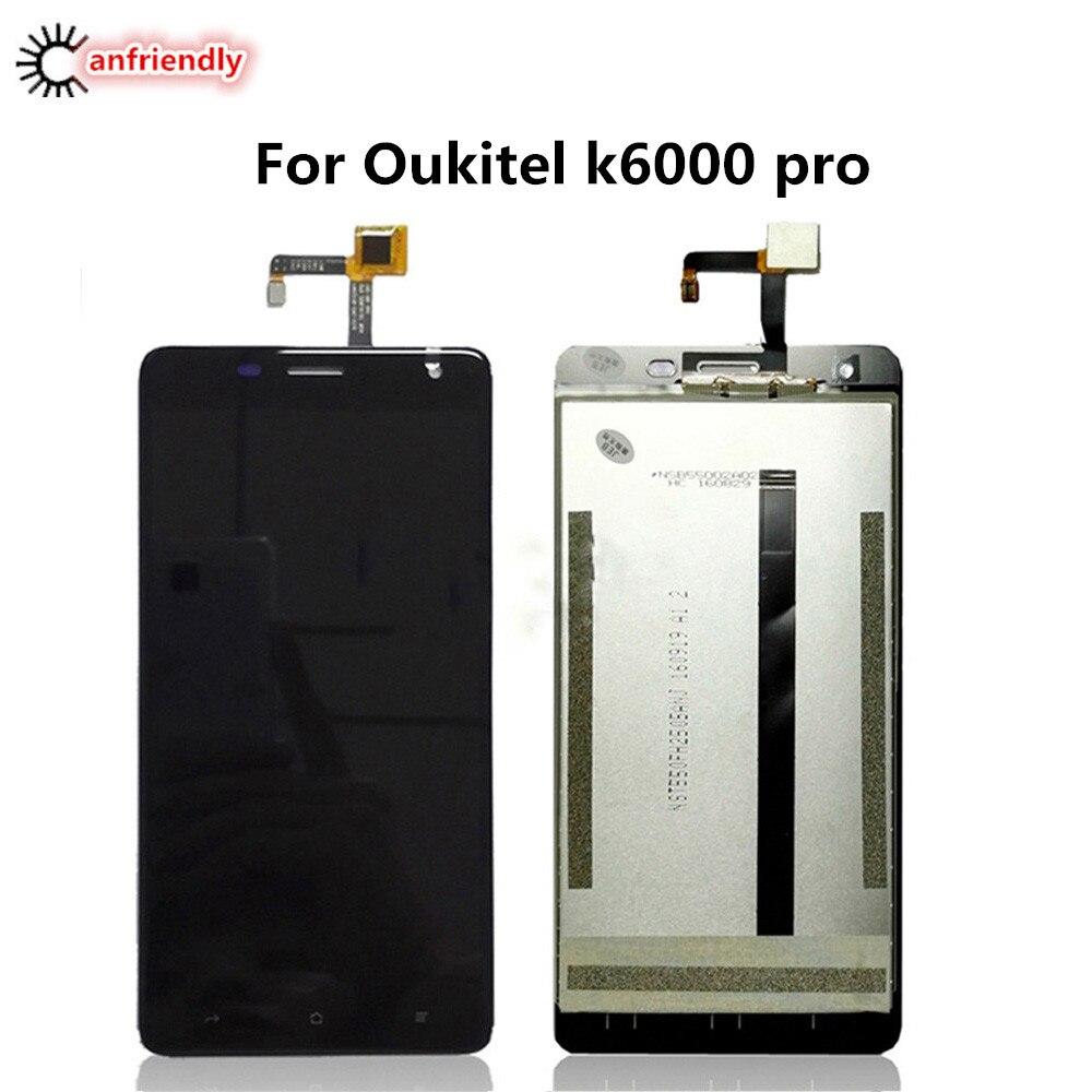 imágenes para Para Oukitel K6000 Pro Pantalla LCD + Vidrio de la Pantalla Táctil Panel Reemplazo Digitalizador Asamblea Para Oukitel K 6000 Pro K6000pro lcds