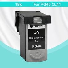 1BK PG-40 CL-41 совместимый картридж PG40 для Canon Pixma MP140 MP150 MP160 MP180 MP190 MP210 MP220 MP450 MP470 принтера