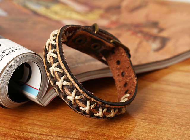 Vintage Braided Cow Leather...
