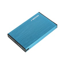 Stock SATA to USB 3.0 HDD Case Aluminum Blue 2.5″ hdd Enclosure Tool free External Hard Disk Drive box for Notebook Desktop PC