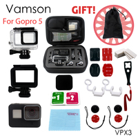 Vamson for Gopro Accessories Set for Gopro Hero 6 5 Waterproof Protective Case Monopod for Go pro hero 5 Chest Mount tripod VPX3