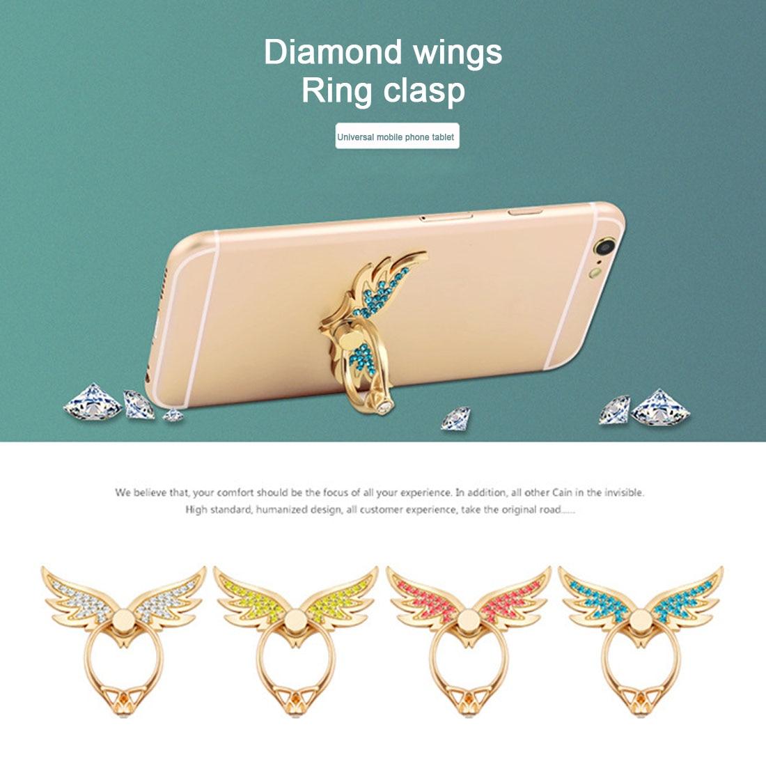 Etmakit Hot Angel Wings Fashion 360 Degree Multi-function Metal Finger Ring Mobile Phone Ring Holder For iPhone Samsung Mobile