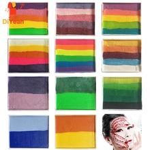 Pro Rainbow Body Paint Halloween Face Painting Makeup Pigment 50g/piece Multicolor Series Temporary Body Art Tattoo Split Cakes