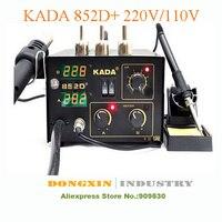 EMS Barato 220 v/110 V KADA 852D + + KADA852D Retrabalho SMT Welder Estação de Ar Quente Ferro De Solda Estação De Solda SMD|iron soldering station|station weather|station iron -