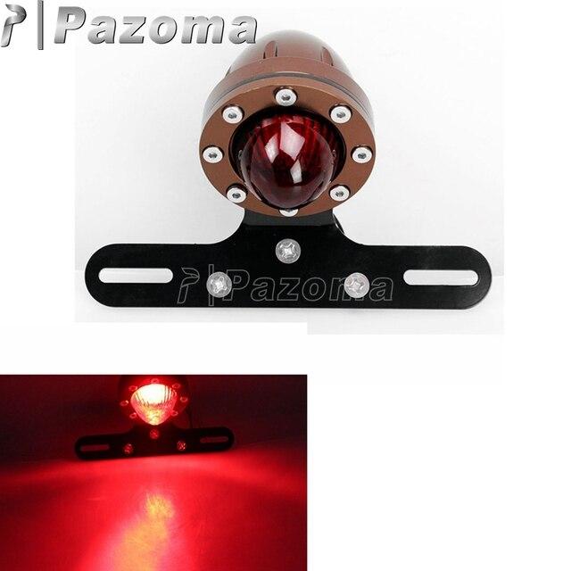 Motorrad Led Schwanz Und Bremslichter Glaslinse Motor Hinten ...