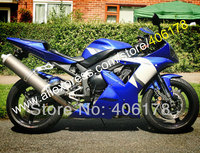 Hot Sales,Aftermarket fairing for YAMAHA YZF R1 02 03 YZFR1 YZF R1 2002 2003 Blue White Motorbike fairing (Injection molding)