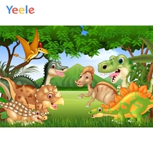 Yeele Birthday Party Cartoon Jurassic Dinosaurs Zoo Photography Backgrounds Customized Photographic Backdrops For Photo Studio