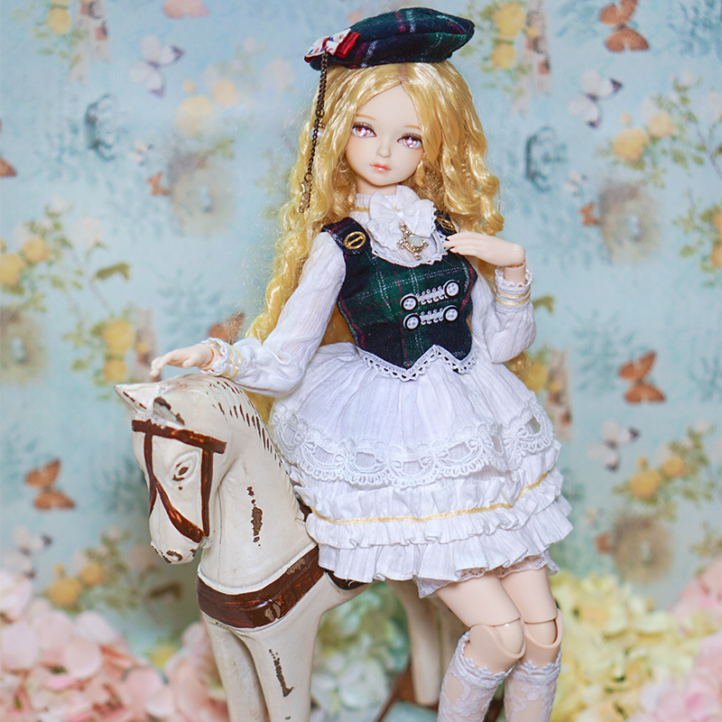 купить Fortune Days 1/4 MMGIRL BJD DOLL joint body with makeup reborn girls eye New soft curly hair British wind suit Blyth dolls toy по цене 7044.54 рублей