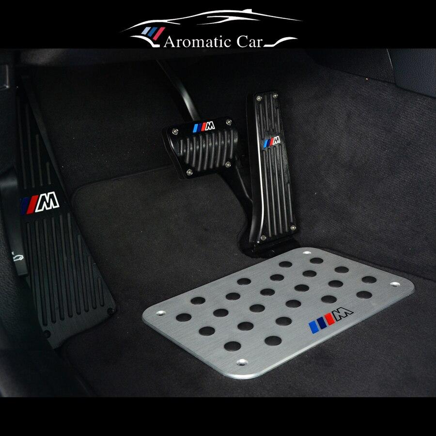 Bmw floor mats z4 - For Bmw M3 M5 X5x6 1 2 3 4 5 6 7 Series E46 E90 E60 F30 F10 E70 E87 Brake Treadle Foot Rest Pedal Cover Aluminium Alloy Non Slip