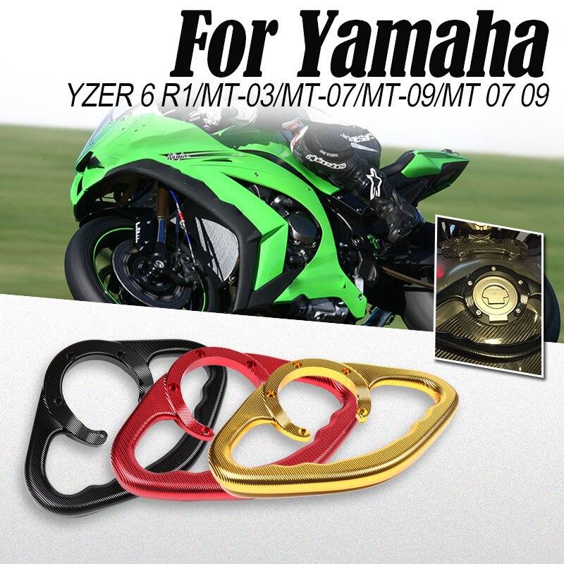 Танк захватывающий CNC захватывающий мотоцикл пассажирский рукоятка руль Танк Подлокотник передний поручень для Yamaha MT-09