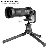 Kapkur Adjustable 18X Telephoto Zoom Phone Lens for iPhone Xs Max X 8 7 Plus Samsung Piexl 3 2 Huawei Universal Telescope Lenses