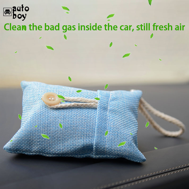 Image 3 - Car Use Bamboo Charcoal Bag Formaldehyde Odor Absorbing Car Deodorant Air Purifying Activated Carbon Bag-in Air Freshener from Automobiles & Motorcycles