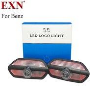 2 pcs Porta Do Carro Levou Logotipo Projetor Laser Bem-vindo Luz Sombra Porta Passo Logo Lâmpada Para Nova W222 Benz S Cortesia Lâmpada Para MABACH S
