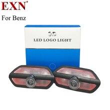 2 шт. двери автомобиля LED Добро пожаловать лазерный проектор Логотип Тень свет дверь шаг логотип лампа для нового Benz S w222 любезно лампа для mabach s