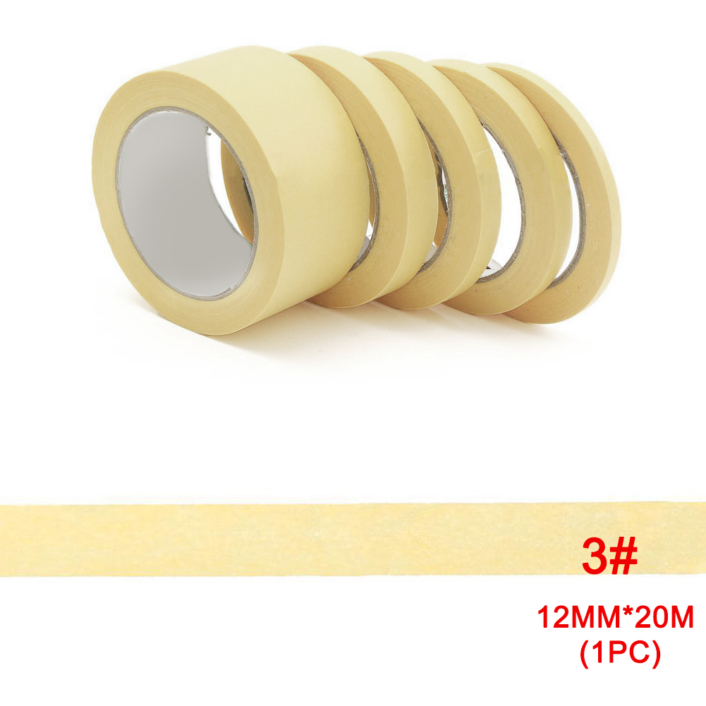 8mm/10mm/12mm/18mm/30mm Masking Tape Model Paint Spray Yellow Temperature Automotive Paint Masking Decor Tools Textured