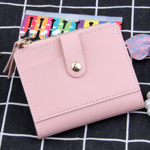 Fashion Women Wallet Lovely Candy Color Mini Small Coin Zipper Purse Card Package Monederos Para Mujer Monedas 2019