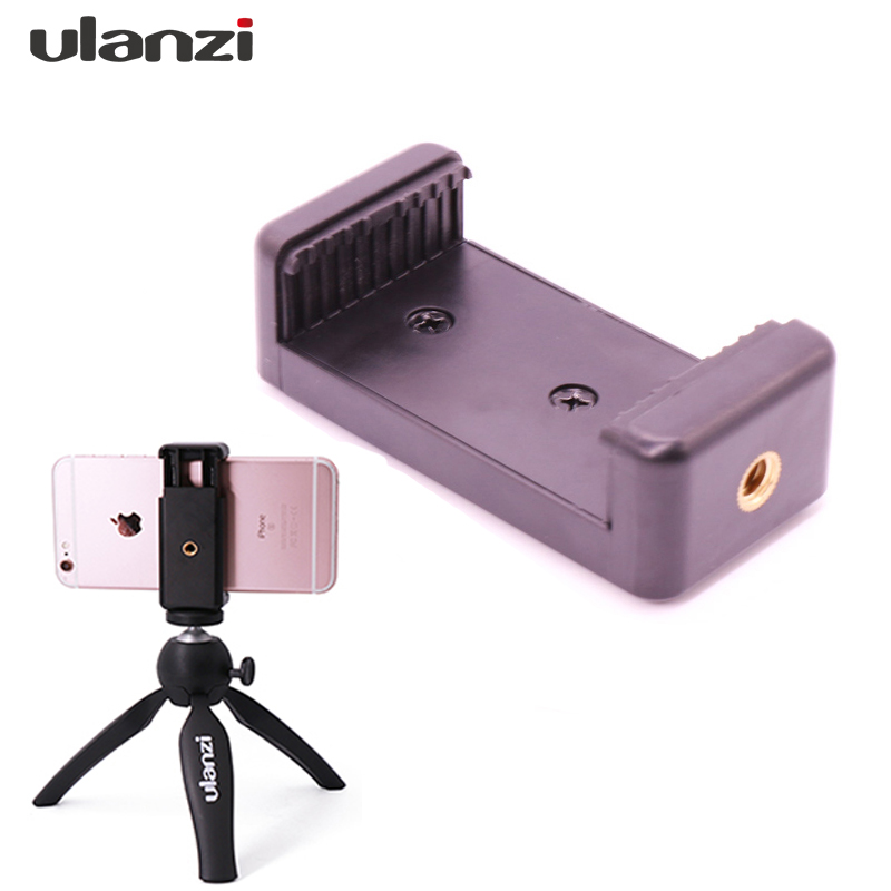 Ulanzi Smartphone Tripod Mount Adapter Phone Tripod Clamp Holder for iPhone X 7plus Samsung Meizu Xiaomi Huawei mobile phone yixiang mini flexible octopus tripod for iphone samsung xiaomi huawei mobile phone smartphone tripod camera accessory