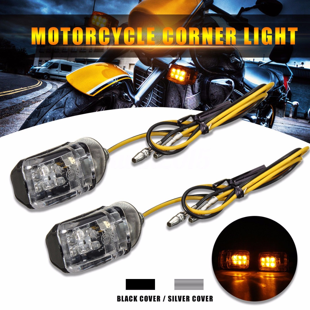 universal-2pcs-12v-super-bright-led-mini-motorcycle-motorbike-turn-signal-blinker-indicator-amber-2-wire-light-lamp-silver