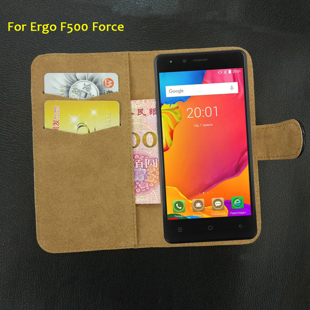 6 Colors Super!! Ergo F500 Force Case Fashion Customize Leather Exclusive Protective 100% Special Phone Cover+Tracking