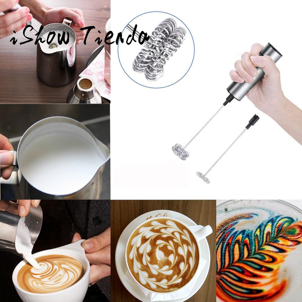 Milk Frother Handheld Double Spring Whisk Head Powerful Electric Spring For Cooking Decoration #25