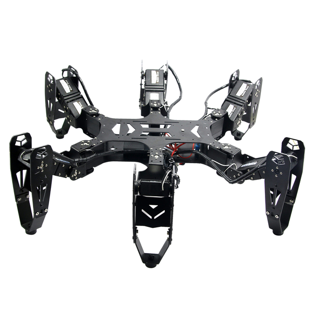 Robo-Soul CR-6 Hexápodo Robótica araña Robot Diy Araña Robot de Seis patas con 20CH y Controladores de Servo Digital montado