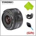 De Calidad superior Yongnuo 35mm lente YN35mm F2 lente de Gran angular de Gran abertura fija lente de enfoque automático para canon ef montaje eos cámaras
