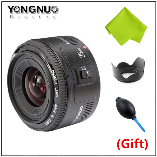 Top Quality Yongnuo 35mm lens YN35mm F2 lens Wide angle Large Aperture Fixed Auto Focus Lens