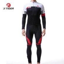 802ab3f51 X-TIGER Bisiklet Forması Set Uzun Kollu Nefes Bisiklet Giyim 5D Jel Ped  Pantolon Spor
