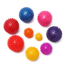 1PC 5-9CM PVC Spiky Massage Ball Trigger Point Hand Foot Pain Stress Relief Fitness Accessories Muscle Relax Ball For Body Yoga foot rocker calf ankle plantar muscle stretch board for achilles tendinitis sports yoga massage fitness pedal stretcher hot sale
