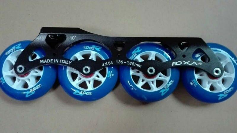 Livraison gratuite patins à roulettes roue 84mm couleur bleue roue en polyuréthane avec cadre 4X84