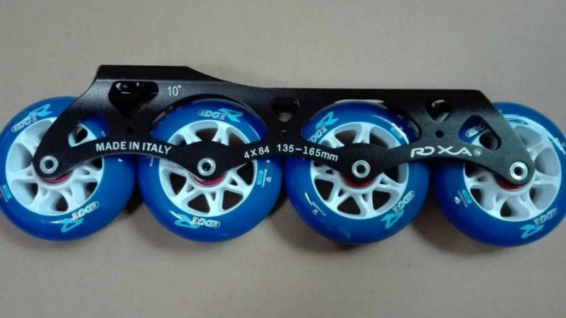 free shipping roller skates wheel 84mm blue color PU wheel with 4X84 frame цена и фото