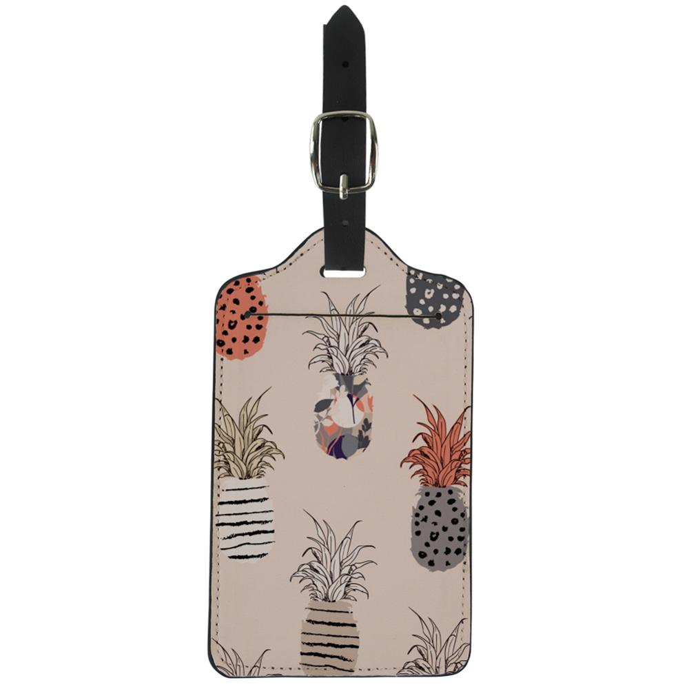 NOISYDESIGNS Girls Creative Suitcase ID Addres Holder Portable Label Colorful Tropical Pattern Suitcase Luggage Tag DIY Custom